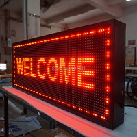 19.8x8.27inch Outdoor Wifi Led Sign for Storefront Message Board, Programmable Scrolling Display