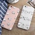 Encantador dos desenhos animados moda phone cases para iphone 7 case para iphone 7 6 6 s mais fundas 7 mais bonito panda macio ultra fino tampa traseira