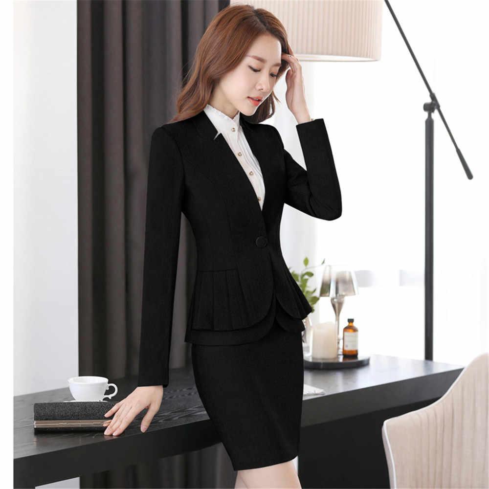 9dfb13adc31 ... Traje de negocios uniforme de oficina diseños falda de mujer traje de  trabajo de mujer para ...