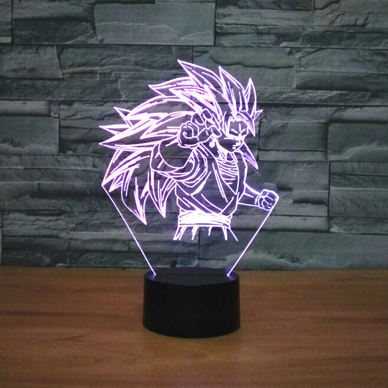 Hot NEW 7color changing 3D Bulbing Light dragon ball Son Goku Super Saiyan visual illusion LED lamp creative action figure toyHot NEW 7color changing 3D Bulbing Light dragon ball Son Goku Super Saiyan visual illusion LED lamp creative action figure toy