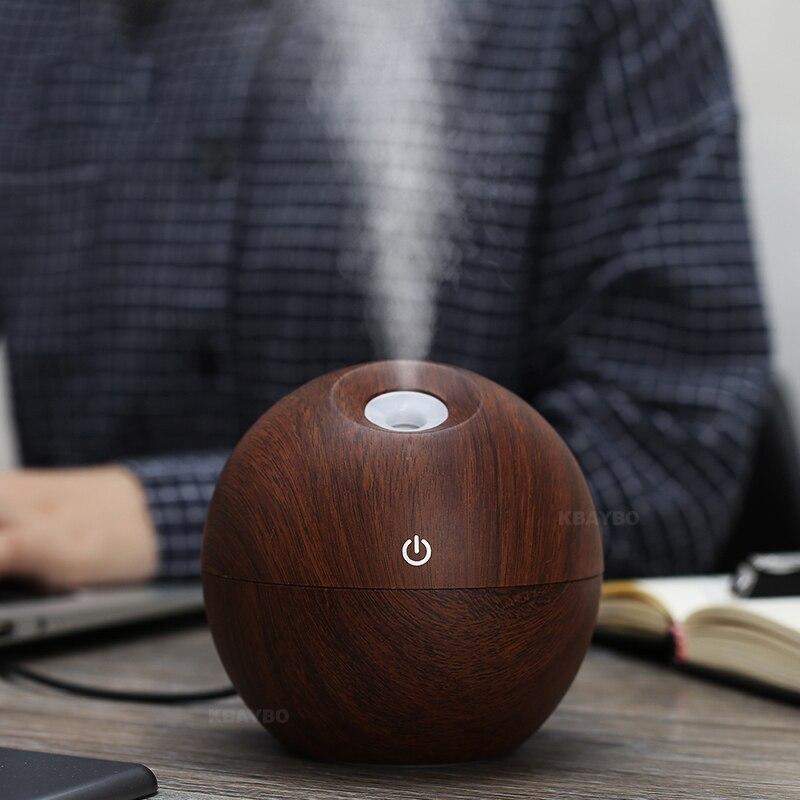 USB Electric Aroma Diffusore d/'Aria in legno ad ultrasuoni Umidificatore aria olio essenziale