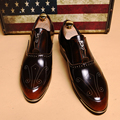 Hot! Dedo Apontado Brockden Sapatos de Couro Casuais Masculinos Moda Personalidade Zíper Frontal Esculpido Corta Sapatos brogue Dos Homens Britânico