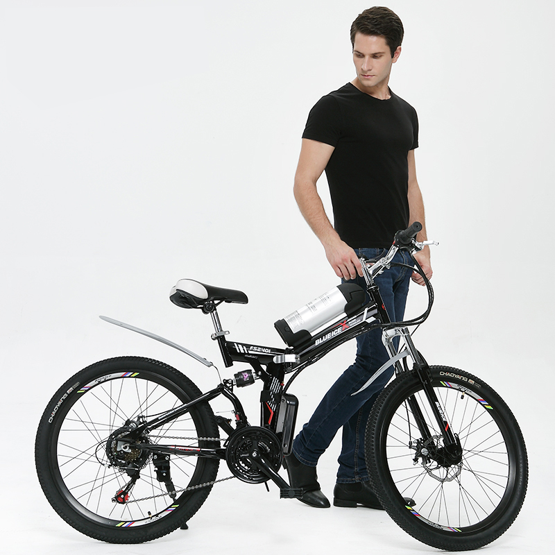 24 inches mountain electric font b bicycle b font lithium battery power font b bicycle b