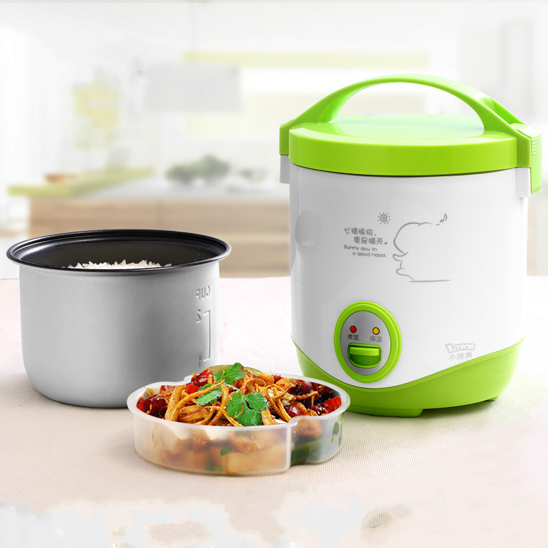 Lotor Mini Portable Multi Electric Rice Cooker 1L Stainless Steel Soup Cooker 110v 220v dual voltage travel cooker portable mini electric rice cooking machine hotel student multi stainless steel cookers