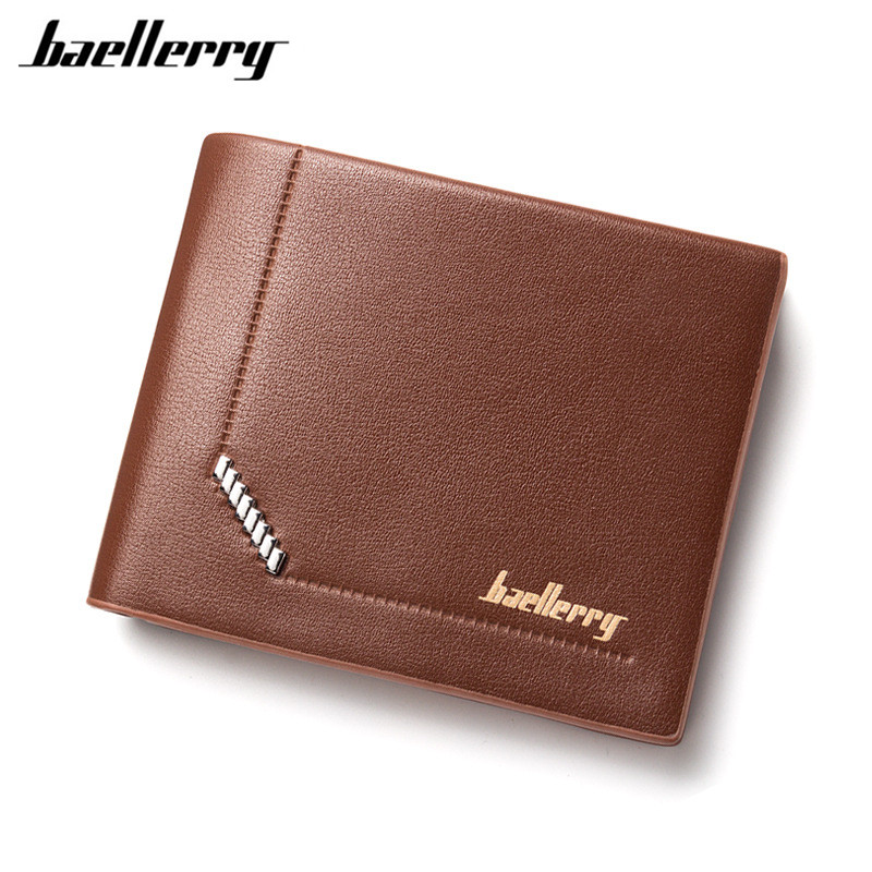 Baellerry 2017 Men Leather Brand Luxury Wallet Vintage Minimalist Short Slim Male Purses Money Clip Credit Card Portomonee