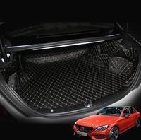 fiber leather car trunk mat for mercedes benz w205 c180 c200 c250 c300 2015 2016 2017 2018 2019 accessories