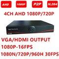 AHDH AHD-H DVR 4 Canais 8 Canais CCTV DVR 4CH 8CH 1080 P 720 P 960 H DVR Gravador de Vídeo para Câmera AHD Câmera Analógica