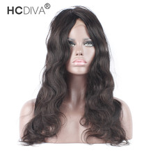 HCDIVA 360 Lace Frontal with Baby Hair 22x4x2 Pre Plucked Brazilian Body Wave Free Part Frontal