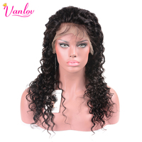 Vanlov Lace Front Human Hair Wigs For Women Brazilian Deep Wave Wig With Baby Hair 10
