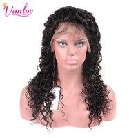 Vanlov 130 Density Lace Front Human Hair Wigs Deep Wave Brazilian Hair Wigs Human Hair With