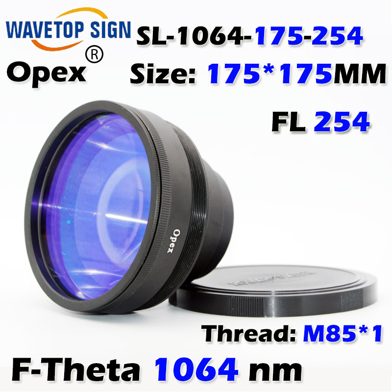 F-Theta 1064 nm  scan len size 175*175mm  focus distance 254mm  use for fiber &yag laser mark machine 1064nm focus lens 70x70mm fiber scanning lens sl 1064 70 100g focus distance 100mm use for fiber yag laser mark machine