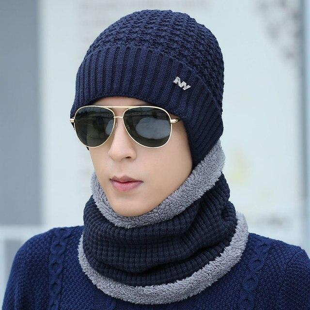 e1caefd234d65 Marca NY Masajeadores de cuello más cálido invierno sombrero gorro  casquillo de la bufanda del invierno