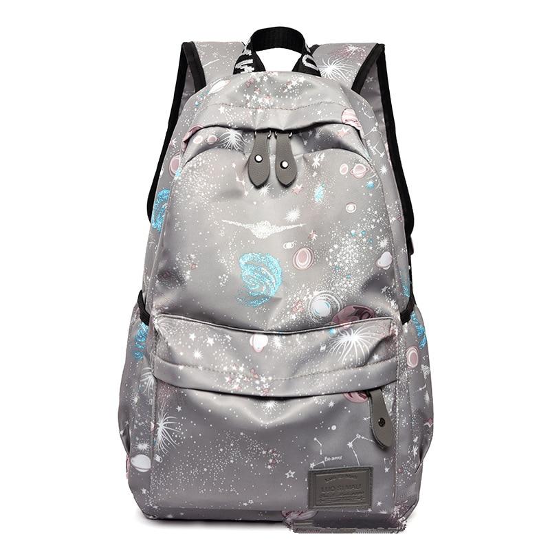 fashion Star print Backpack Women Travel Back pack school student backpacks youth Bagpack school bags for girls Rucksack Mochila