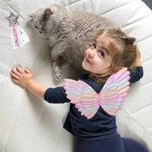 Детская фотография бабочка угол крыло Фея палка принцесса девушка представление Костюмы Аксессуары День Рождения мультфильм шляпа