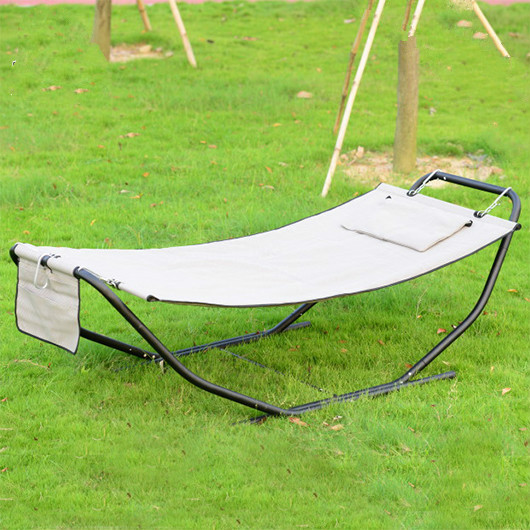 Courtyard outdoor simple bed lazy hammock beach shaking bed