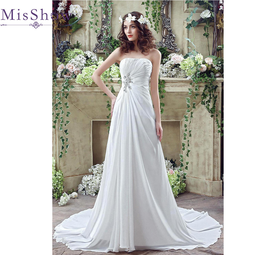 2019 Real Photo A Line Elegant Strapless Beaded Long