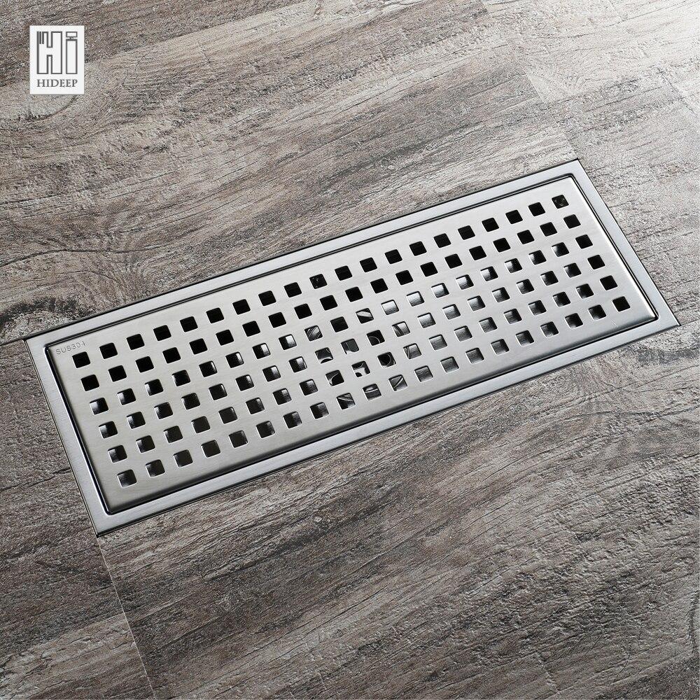 HIDEEP acier inoxydable Anti-odeur Drain de sol désodorisation Type Rollover cuisine évier crépine draine douche pour famille salle de bain