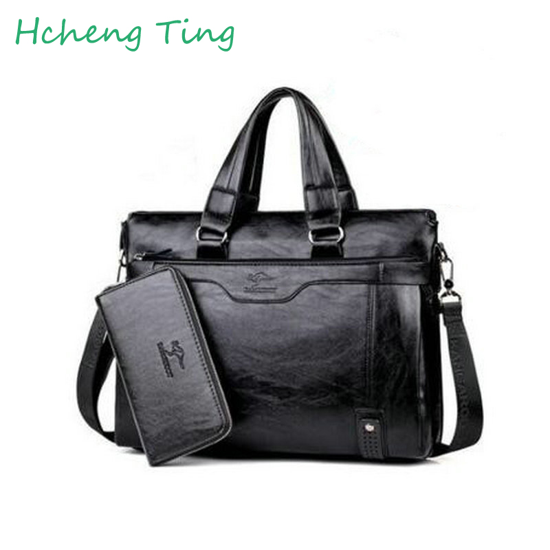 Men Casual Briefcase Business Shoulder Leather Bag Men Messenger Bags Computer Laptop Handbag Bag Men's Travel Bags hg1f sb22yf s touch screen protect flim overlay for idec hg1f sb22yf s repair touch panel fast shipping