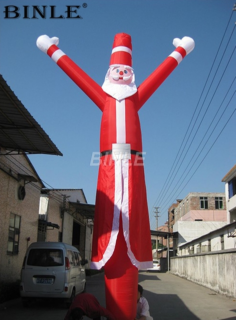 6m 20ft large outdoor party animated santa inflatable air dancer for christmas decoration