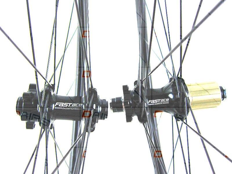 Vtt carbone roues 650B vtt 30mm Droite pull FASTace DA206 thru essieu roues carbone VTT roue UD mat vélo roues 1423