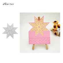 JC New Arrival Octagonal Magic Star Metal Cutting Dies for Scrapbooking DIY Embossing Folder Cards Handmade Album Stencil Crafts