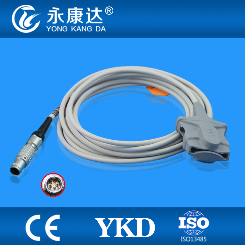 Monitor for Goldway UT4000F Spo2 Sensor Cable Adult Soft Tip type mental 5pin