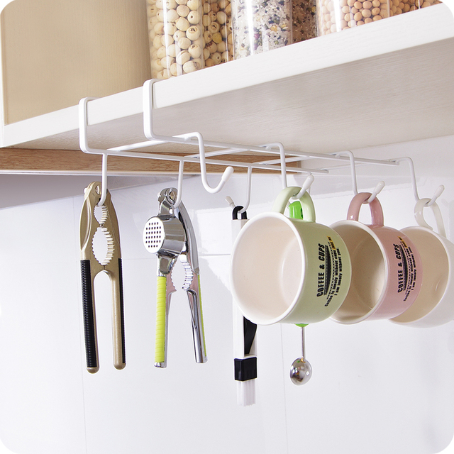Iron Kitchen Cabinet Door After Storage Rack Wardrobe Storage Hangers  Creative Storage Hooks