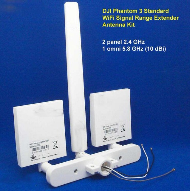 DJI Phantom 3 Standard WiFi Signal Range Extender Antenna Kit 10 dBi Omni