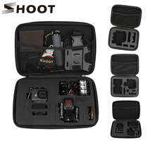 SHOOT Portable Eva Collection Box Camera Case for GoPro 9 8 7 5 Black Xiaomi Yi 4K Eken H9r Sjcam M10 Go Pro Hero 7 Accessory