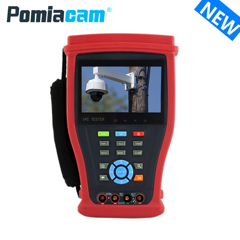 IPC4300 Plus New H.265 4K IP Camera Tester Testing 8MP TVI CVI 5MP AHD SDI Camera CCTV Tester Monitor With UTP , RJ45 Test