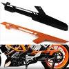 1pcs Orange Black CNC Aluminum Chain Guard Cover Protector For KTM DUKE 390 2013 2017 DUKE