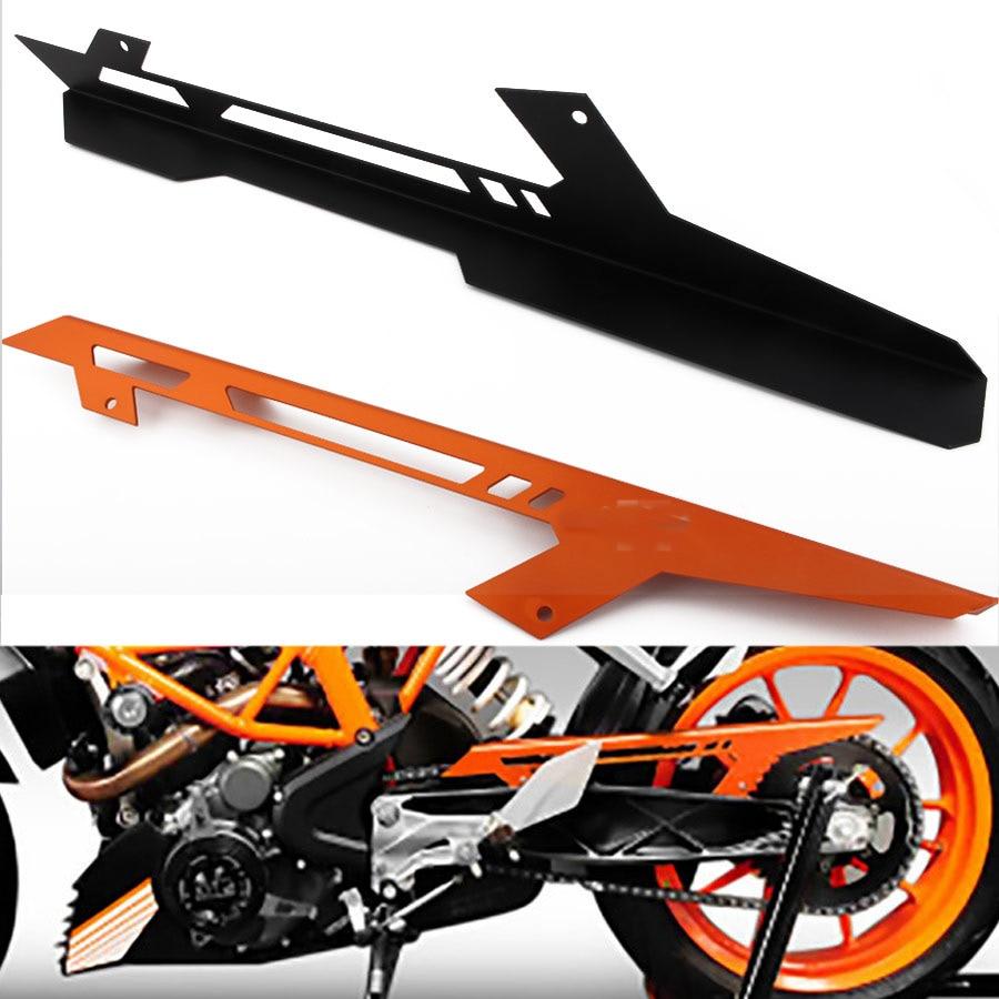 1pcs Orange/Black CNC Aluminum Chain Guard Cover Protector For KTM DUKE 390 2013-2017 DUKE 125 2011-2017 DUKE 200 2012-2017 black yellow motorcycle abs rear seat cover cowl for ktm duke 125 250 390 2011 2015