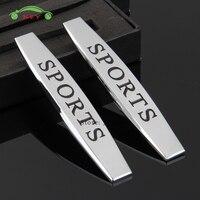 Car Fender Side Sticker Accessories Metal Emblem Badge For Sport Logo For Honda Civic Hyundai Ford