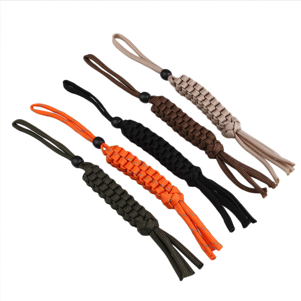Nylon Rope Paracord Corn Knot Ornament Knife Keychain Lanyard Diy