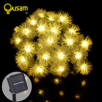 Solar 20 30Leds Snowball String Fairy Lights Outdoor Solar Power Lights For Parties Holiday Garden Decoration