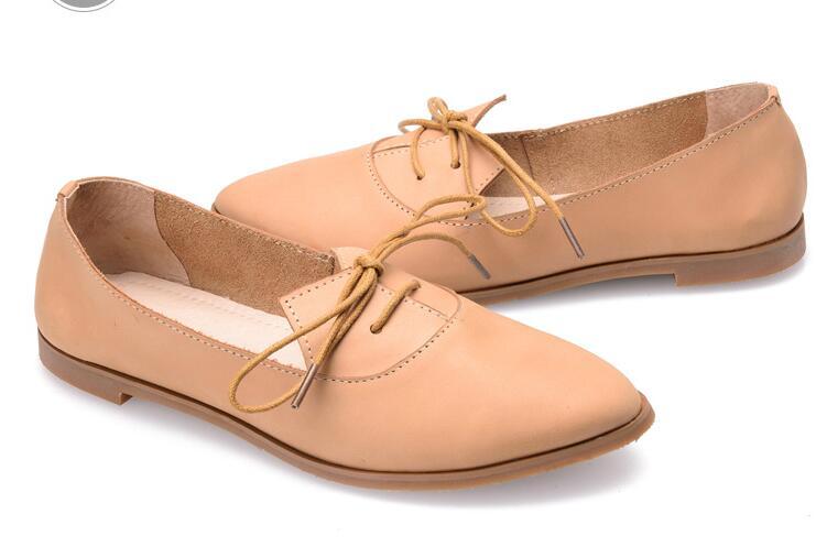 2016 new head layer cowhide Bullock Pure Handmade The retro art shoes ,Flat shoes fashion Women's Single shoes,2 colors