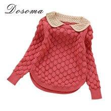 kids new fashion kids designer Girls doll collar thread hook flower sweater children wool sweater girls