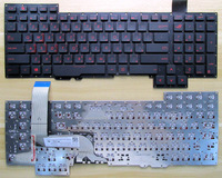 New Laptop Keyboard For ASUS G751J G751 G751JY G751JT G751JM ARABIC CZECH RUSSIAN US Layout