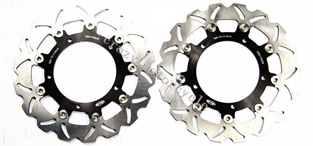 Free shipping motorcycle Brake Disc Rotor fit for Yamaha YZF R6 2003-2004 FZ6 FAZER S2 600 2007-2008 FZ6 2004-2008 motorcycle part front rear brake disc rotor for yamaha yzf r6 2003 2004 2005 yzfr6 03 04 05 black color