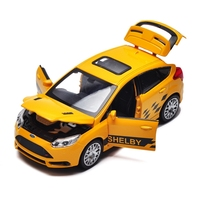 1 32 Alloy Car Models High Simulation Ford Focus Models Toy Vehicles Metal Diecasts Pull Back