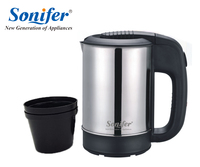 0 5L Mini Electric Kettle Stainless Steel 1000W Portable Travel Water Boiler Sonifer