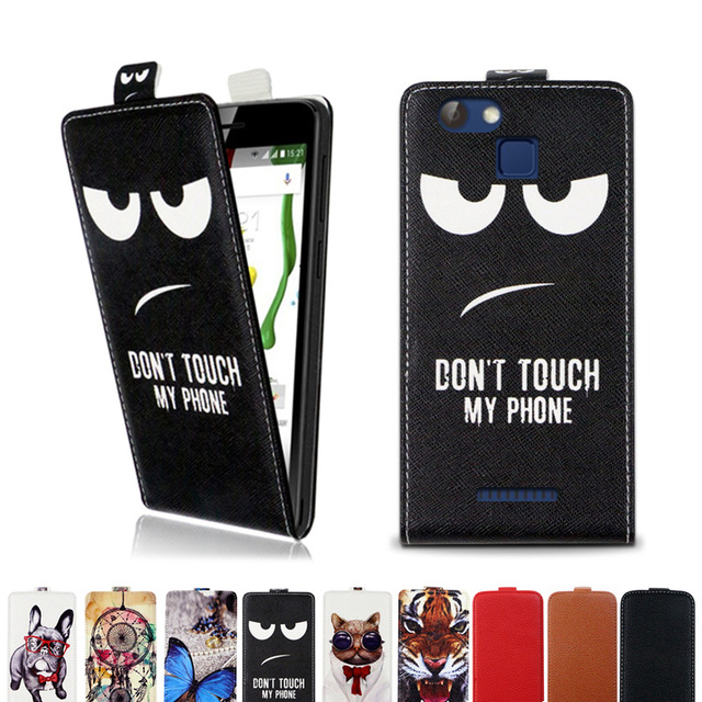 Printed cool cartoon butterfly Tiger owl flip up and down leather case cover for Nomi i5012 EVO M2