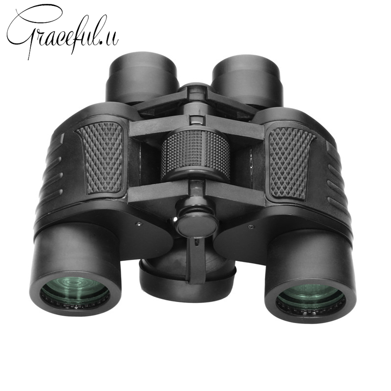 Powerful HD 8X40 Binoculars for Hunting Profissional Camping Night Vision Telescope Wide Angle Zoom Telescopio