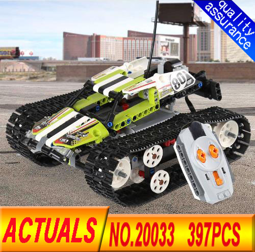 New Lepin 20033 397pcs Technic  Series Remote control Tracked Racer Model  Building Blocks Bricks Educational Toys with 42065 new lp2k series contactor lp2k06015 lp2k06015md lp2 k06015md 220v dc