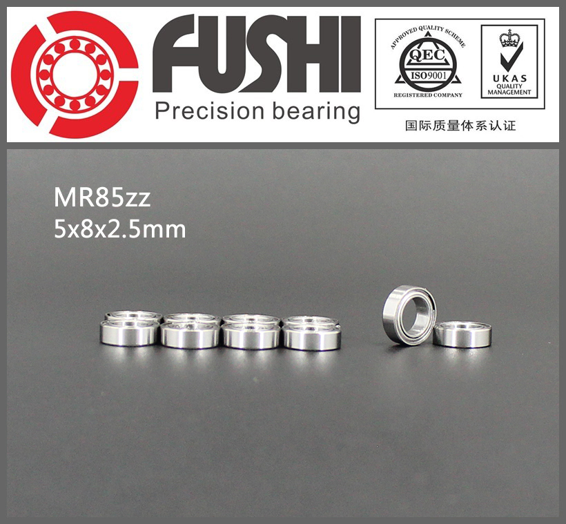 MR85ZZ Bearing ABEC-1 (10PCS) 5*8*2.5 mm Miniature MR85 ZZ Ball Bearings L-850ZZ MR85Z Rulman mr148zz bearing abec 1 10pcs 8 14 4 mm miniature mr148 2z ball bearings mr148 zz l 1480zz mr148z