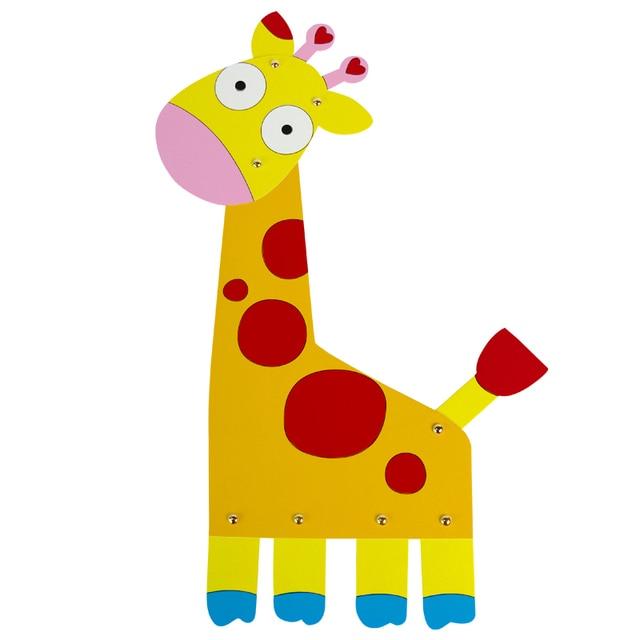 Los niños de dibujo papel pintura animal lindo ciervo jirafa cartón ...