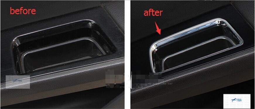 ABS ! Inner Door Storage Box Handle Cover Trim 4 Pcs For Ford Mondeo 2014 2015 / Fusion 2013 - 2015 2013 2015 black inner dsg paddle shifter extension fit for ford mondeo fusion