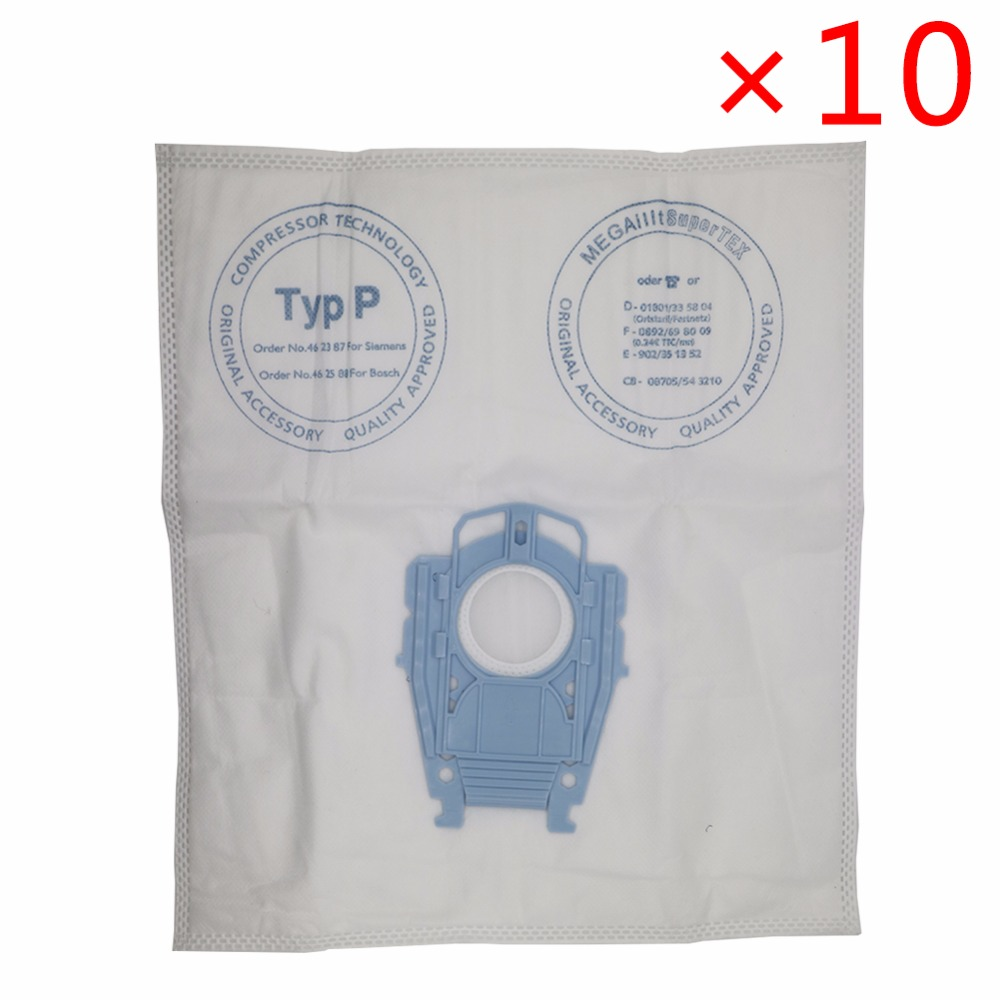 где купить 10pcs/lot good quality Vacuum Cleaner Microfleece Type P Filter Dust Bag for Bosch Hoover Hygienic professional BSG80000 468264 дешево