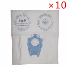 10pcs/lot good quality Vacuum Cleaner Microfleece Type P Filter Dust Bag for Bosch Hoover Hygienic professional BSG80000 468264