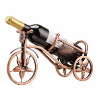 1 Creative Metal Wine Rack Beautiful Crafts Artwork Wine Holder Creative Wine Bottle Stand Practical Decoration Bracket